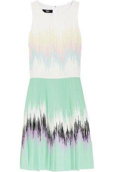 Versus Pleated Crepe Dress