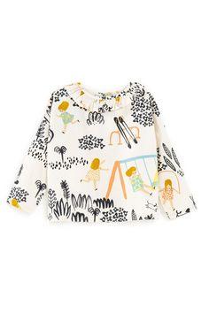 Sweet pattern for a girl's top. Fashion Kids, Toddler Fashion, Toddler Outfits, Kids Outfits, Baby Outfits, Fashion Clothes, Cheap Fashion, Womens Fashion, Kids Patterns