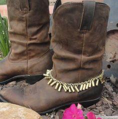 Bullet Shell Boot Bracelet by on Etsy Ammo Jewelry, Boot Jewelry, Shell Jewelry, Jewelry Crafts, Handmade Jewelry, Bullet Casing Crafts, Bullet Casing Jewelry, Bullet Crafts, Shotgun Shell Crafts