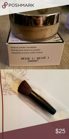Mary Kay Mineral Foundation and Brush Never used, never opened Mary Kay Mineral Foundation in Beige 1.0, and brush included!  I am a former distributor Mary Kay Makeup Foundation