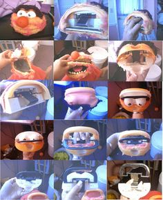 Step-by-step deconstruction of a 1970s Animal toy puppet by Fisher Price to show how it's blinking eye mechanism works (photo credit: Michele Acquin)