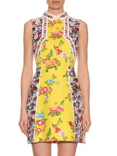 Amore floral-print silk and cotton-blend dress | Mary Katrantzou | MATCHESFASHION.COM