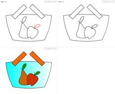 how to draw fruit basket for kids step by step drawing tutorial draw fruit basket