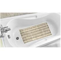 Bamboo Style Tub Mat - Beige