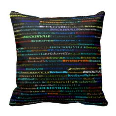 Brickerville Text Design I Throw Pillow