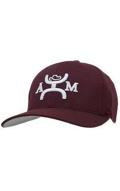 Hooey® Maroon with White Logo Cap H2012TAMU Western Hats ea36fd7dccf1