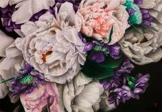 "Saatchi Art Artist Francesco Raffa; Painting, ""Peonie bianche e violette"" #art"