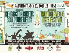 Our Guide To The Fantastically Funky Trenton Avenue Arts Festival And Kinetic Sculpture Derby Taking Over Kensington This Saturday, May 18