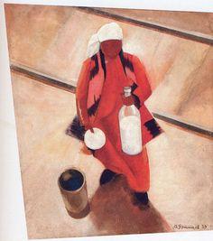 To The Train 1927 /Victor Ufimtsev/  - Oil on canvas. http://fazendoartedmc.blogspot.com.br