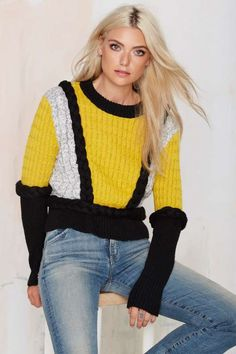 Knitz by For Love and Lemons Billy Sweater - What's New