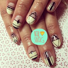 THE BECHAMEL NAIL for Irene! This inspiration was pulled from a Pinterest mani so I don't know who to credit! #nailswag #nails #nailart #nailartclub #swag #gelnail #LA