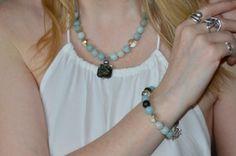 Aqua Necklace - Aqua Bridesmaid Necklace - Azure Necklace -...