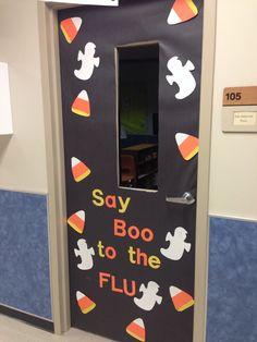 Love this Halloween themed door!