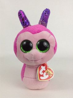 300c7e0986f 2017 Ty Beanie Boos Scooter Pink Sparkly Snail Plush Stuffed Toy w  TAGS  Ty