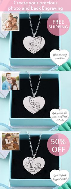 A lovely way to remember some one special . Perfectly hand crafted step-by-step to keep your loved once inspired with a perfect photo necklace that truly captures a wonderful moments of your life in a heart. Mother's day specials ,50% Off .Hurry personalize cherish gift with nice gift box for mom .Check more from getnamenecklace