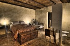 Rather than simply building a hotel in the Abbruzzese mountain village of Santo Stefano di Sessanio, Sextantio integrateD twenty-nine contemporary … Furniture, Room, Hotel, Home Decor, Tuscan Decorating, Bedroom Bliss, Hotel Corridor, Superior Room, Interior Design
