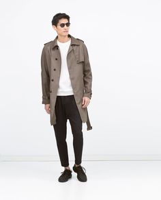 Draped khaki trenchcoat from Zara