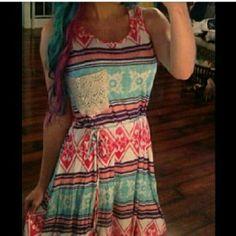 Adorable Cotton /Chiffon underlay Boutique Dress Adorable Cotton Dress with Chiffon underlay Dresses Midi