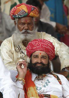 Men with beard in Pushkar - Pushkar, Rajasthan http://www.shantitravel.com/Foire-de-Pushkar-2012?lang=en