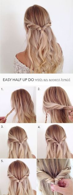 einfache-frisuren-lange-blonde-lockige-haare-haarfrisur-selber-machen-frauen easy-hairstyles-long-blond-curly-hair-hair hairstyle-yourself-making women Simple Wedding Hairstyles, Simple Hairdos, Beautiful Hairstyles, Bridesmaids Hairstyles, Prom Hairstyles For Long Hair Half Up, Prom Hairstyles For Medium Hair, Cute Down Hairstyles, Simple Hairstyles For School, Half Up Half Down Hairstyles