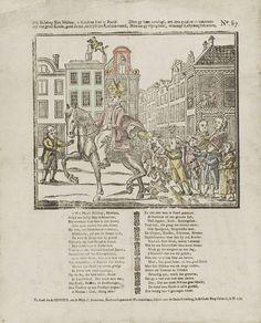 Ziet bisschop Sint Niklaas, ô kindren hier te paard! / Hy was goed kinds, goed arms, en blyft den lof dus waard, / Die gy hem toezingt, om zyn gunsten te bekomen / Mits dat gy vlytig leert, of moogt kastyding schromen, J. Robyn, 1715 - 1813