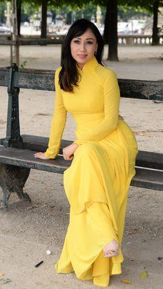 Vietnamese Traditional Dress, Vietnamese Dress, Fashion Tights, Fashion Dresses, Asian Style Dress, Bollywood Dress, Indian Gowns Dresses, Curvy Dress, Velvet Fashion