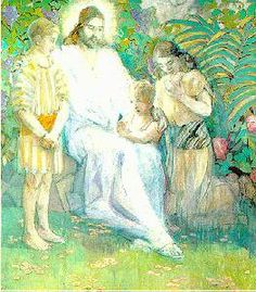 The savior and the Children: Minerva Bernetta Kohlepp Teichert