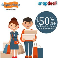 Get Up to 50%Off on #Fashion, #Home, and #Electronics at #Snapdeal! Claim Now : http://www.couponcanny.in/snapdeal-coupons/