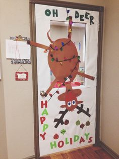 Classroom door decorating idea for Christmas.