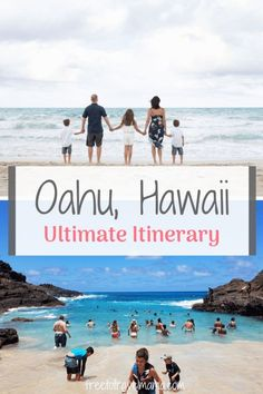 Oahu Itinerary 7 Days | Here is our best Oahu Itinerary for 7 days to help you plan your vacation in paradise! Iconic spots, hidden gems, and planning details are all here to help you! #freetotravelmama #hawaii #oahu