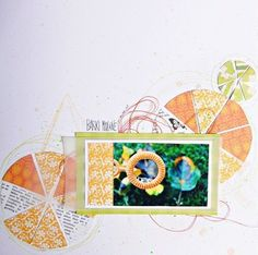 """""""Bubbels"""" - made by Katrina.  Papers from Be Optimistic and A Time4Joy collection."""