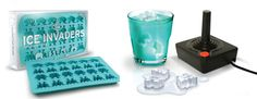 Space invaders ice cube mold