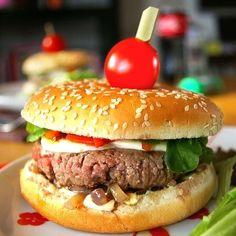 Hamburger au bœuf, mozzarella et sauce béarnaise : 65 recettes de hamburger…