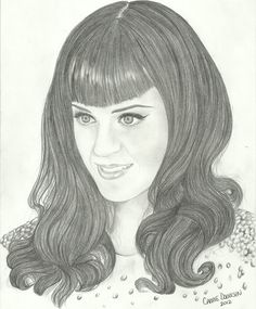♡ On Pinterest @ kitkatlovekesha ♡ ♡ Pin: Art ~ Katy Perry Drawing ♡