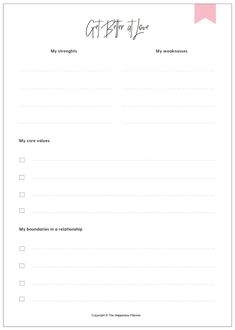 Mo Seetubtim — A Guide to Being Better at Love Self Esteem Worksheets, Therapy Worksheets, Bullet Journal Books, Bullet Journal Ideas Pages, Templates Printable Free, Printables, Dating Book, Family Meeting, Life Binder