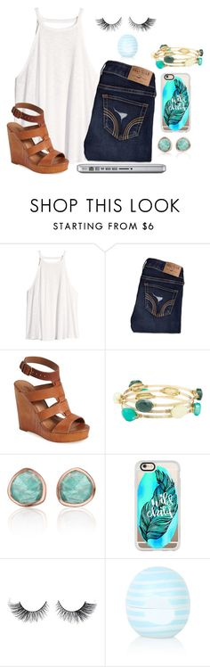 """""""♔ Once I was 7 years old my mama told me, go make yourself some friends or you'll be lonely♔"""" by kari-luvs-u-2 ❤ liked on Polyvore featuring H&M, Hollister Co., Lucky Brand, Charlotte Russe, Monica Vinader, Casetify and Topshop"""