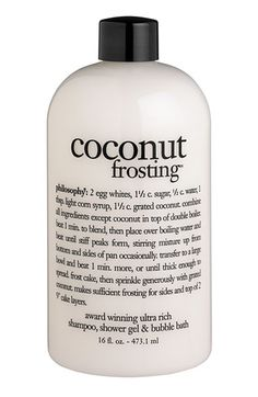 Coconut Frosting shampoo/body wash/bubble bath. Mmmm...love the smell