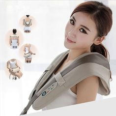 (66.50$)  Watch now  - Electrical Shiatsu  back massager 3D kneading vibration Shoulder Massager Frozen shoulder Pain Relief The best gift 220-240V