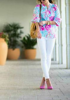 Lilly Pulitzer Elsa Top in Jellies Be Jammin worn by @Haley Shepherd | Sequins and Things