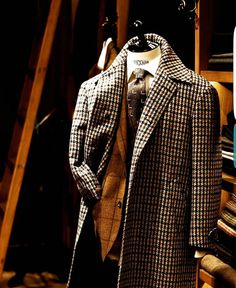 Stunning tweed overcoat made by Sartoria Dalcuore, exclusive for BRIO Sharp Dressed Man, Well Dressed Men, Tweed Overcoat, Grown Man, Fine Men, Good Looking Men, Mens Suits, Gq, Men Dress