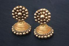 DIY Indian Gold Jhumka Earrings Tutorial