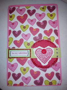 Valentine card using some Stampin Up goodies http://scraphappypapercrafter.blogspot.com