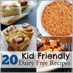 20 Kid Friendly Dairy Free Recipes. For my lactose-intolerant little plum!
