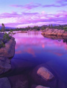 Utica Lake at Sunset