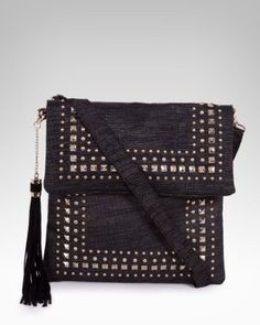 7. a handbag to tote your essentials (Linen Stud Crossbody) -- It gives me a bit of an edge  #bebe #wishesanddreams