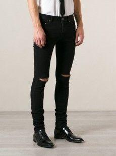 Saint Laurent Ripped Knees Jeans
