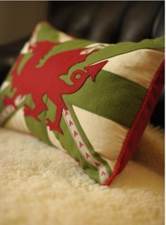 Inspiration These are great - Welsh pillows from Etsy seller Horse by POB . I really like a quirky novelty pillow thrown into the cushion co. Rugby, Welsh Words, Saint David's Day, Welsh Dragon, Cymru, Welsh Terrier, Union Jack, Couture, Sewing Projects