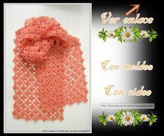 Delicadezas en crochet Gabriela: Bufanda punto margarita