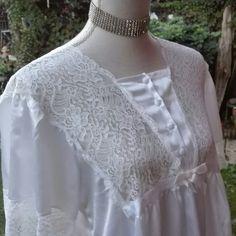 Camicia da notte shabby chic vintage bianca wedding sposa