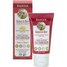 Badger Organic Damascus Rose SPF 20 Daily Sunscreen Tinted